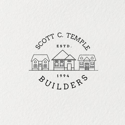 Rustic/Older Looking Logo for Builder