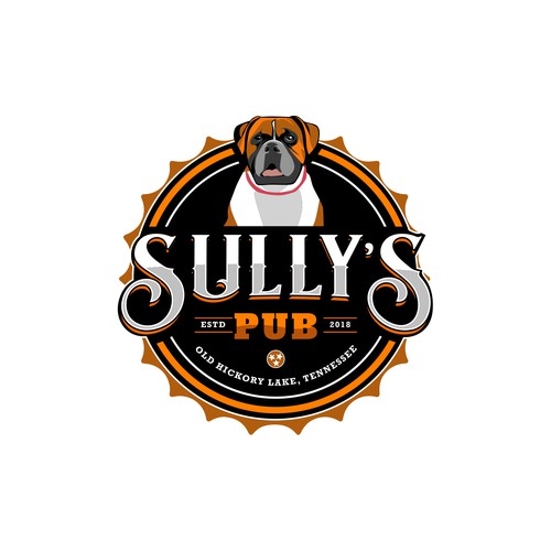 Bold logo for a Pub