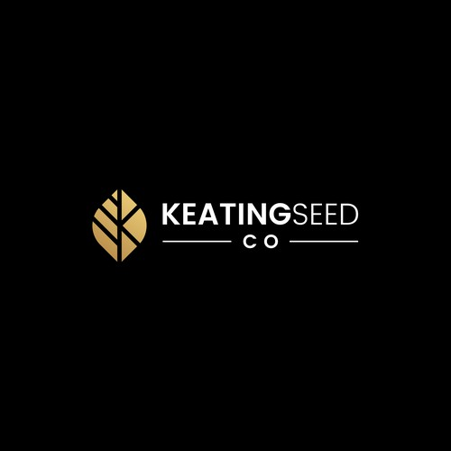 Simple nature logo for KeatingSeed company