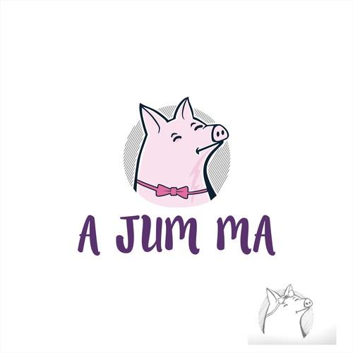 Character Mascot/Minimalistic for A JuM Ma Logo