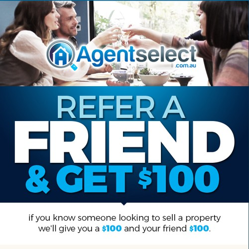 Agentselect referral program digital ad