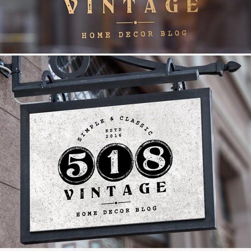 Logo Design for 518 Vintage