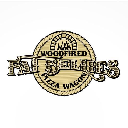 Fat Bellies Pizza Wagon - western style logo