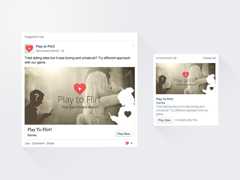 Design 3 simple & minimalistic facebook banner ads for news feed & right sidebar.