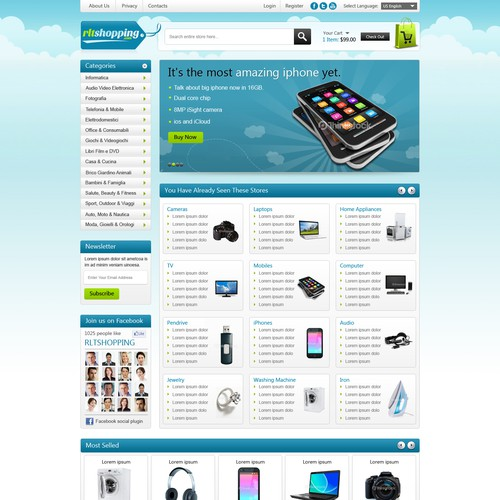Home Page For RLTSHOPPING.COM ecommerce store