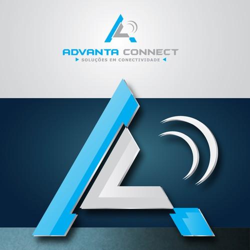 Logomarca para empresa de soluções de conectividade
