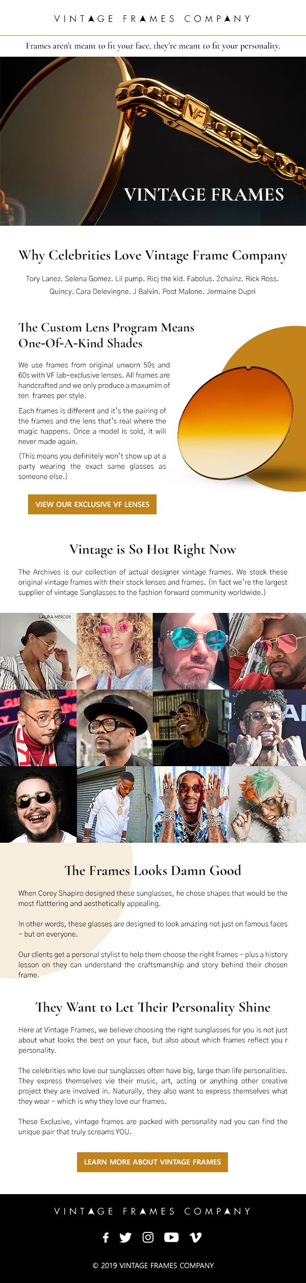 Email Design for Luxury Eyewear Brand