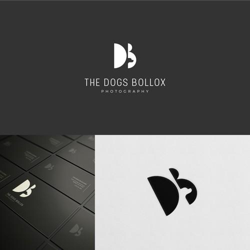 dog in wordmark logo