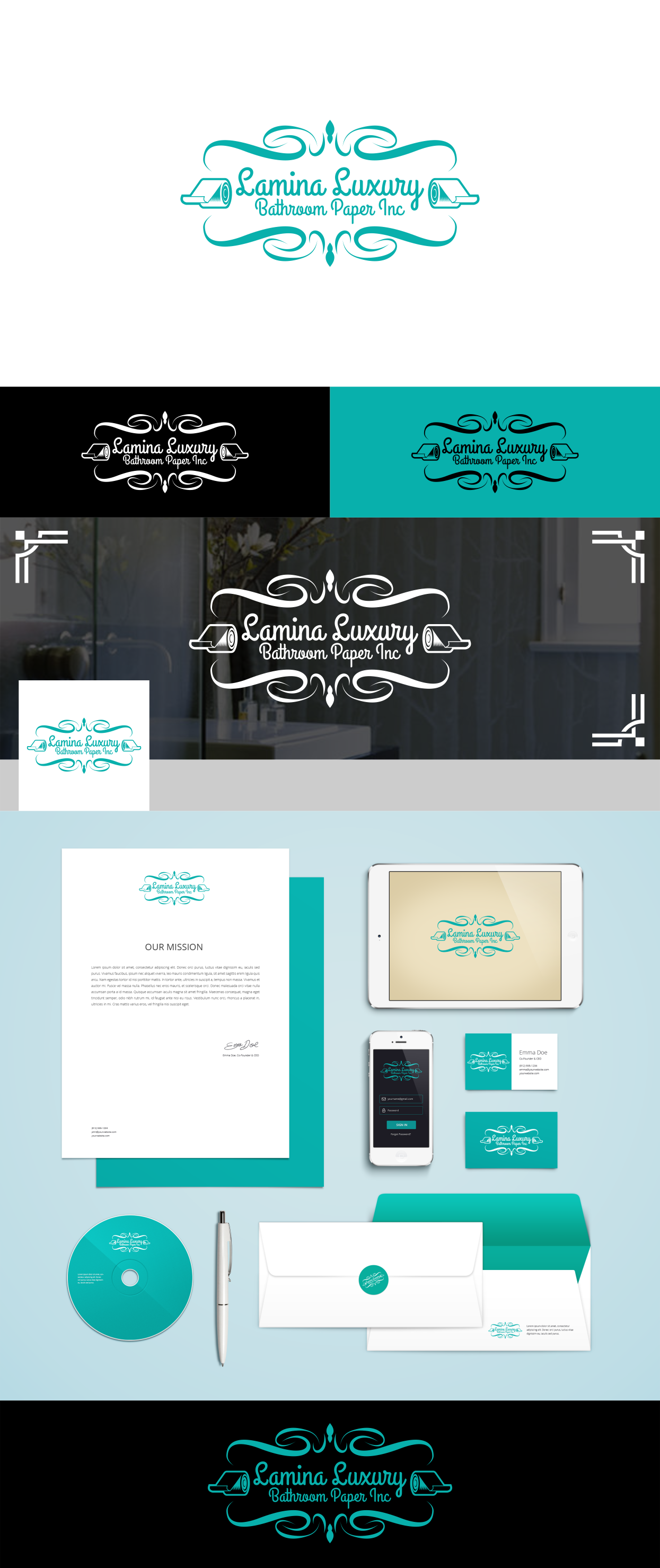 Branding for a bathroom paper manufacturing company