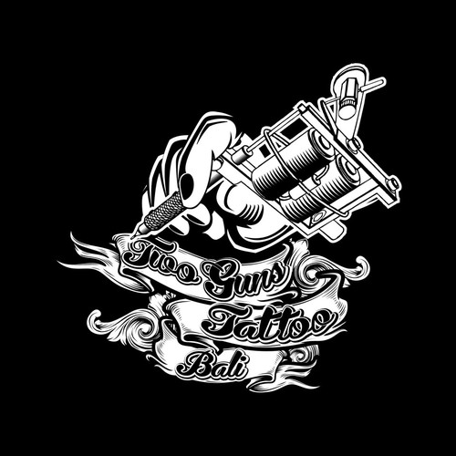 the logo Two Guns Tattoo