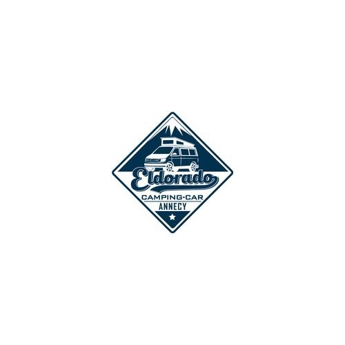 A LOGO FOR CONCESSION CAMPING CAR- JEUNE/PEPS/ DYNAMIQUE
