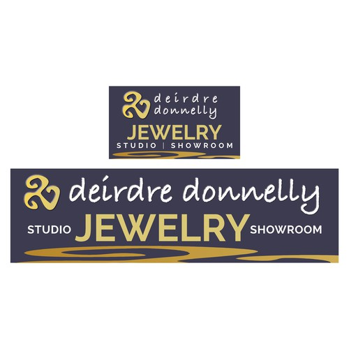 Need a sophisticated sign for Jewelry artist to draw people into my showroom