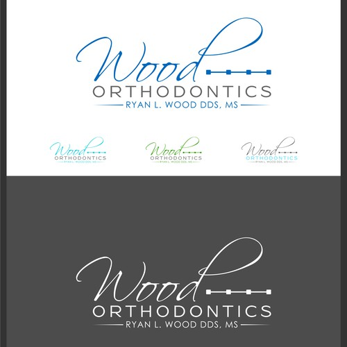 Create an artistic logo for Wood Orthodontics
