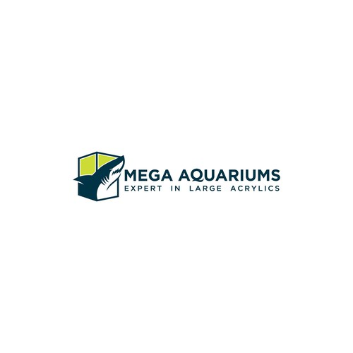 shark aquarium logo design