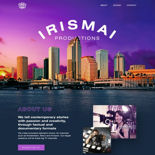 Website design for a Video Production company.