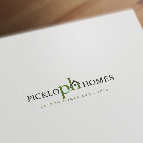 Picklo Homes logo concept