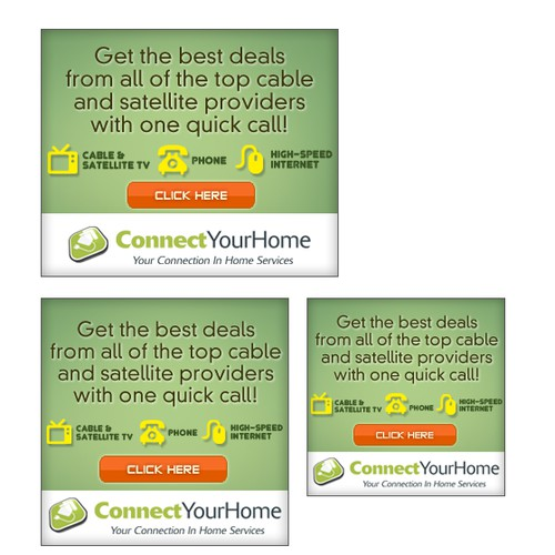 Banner ad campaign for Connect Your Home