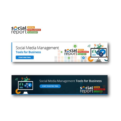 Banner ad for social media platform company