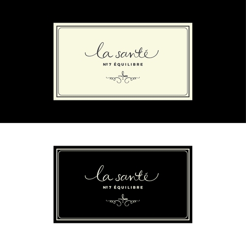 A delicate and elegant logo for 'la santé', a wellness candle range.