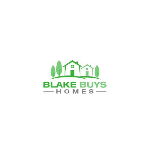 Create a fun and friendly logo for Blake Buys Homes