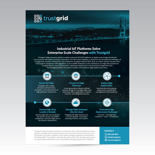 Page Brochure for Edge Computing Trustgrid
