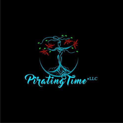 Logo design for Public speaker, lung cancer patient ambassador: Pirating Time. LLC