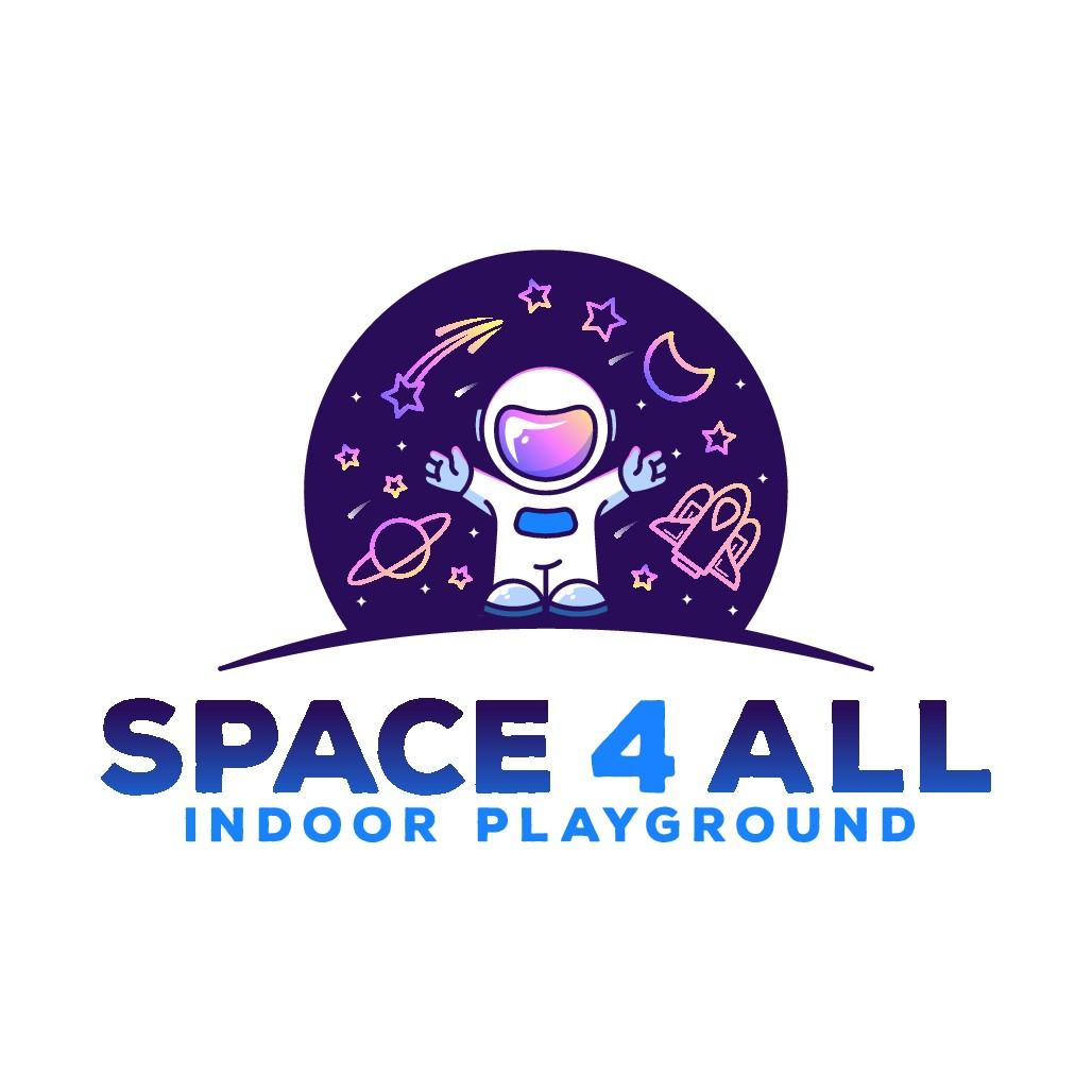 Design an attractive logo for a space themed indoor playground dedicated to empowering kids