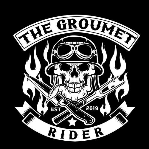Culinary Rider emblem Logo design