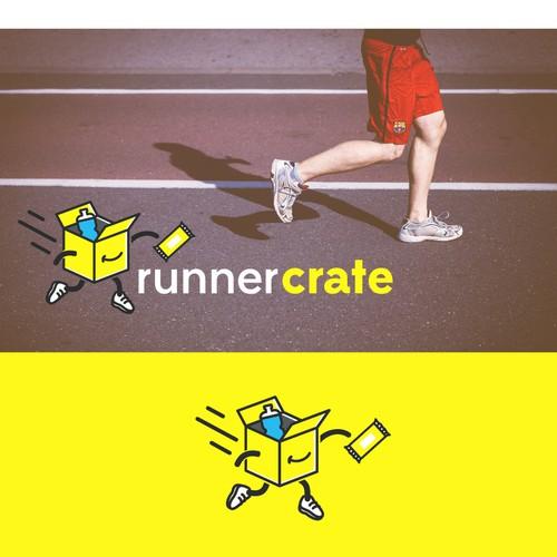 A fun bold logo for a runner's subscription box company