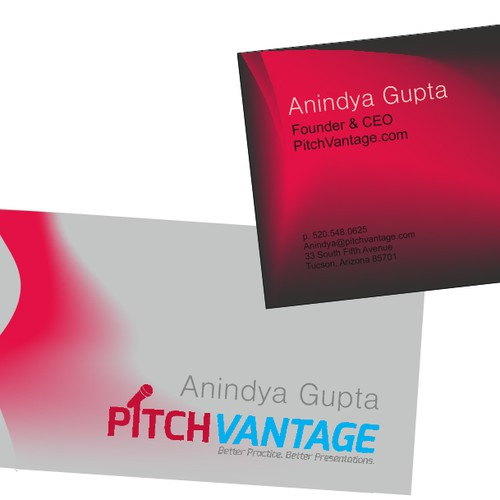 Create a business card that stands out for a tech starup