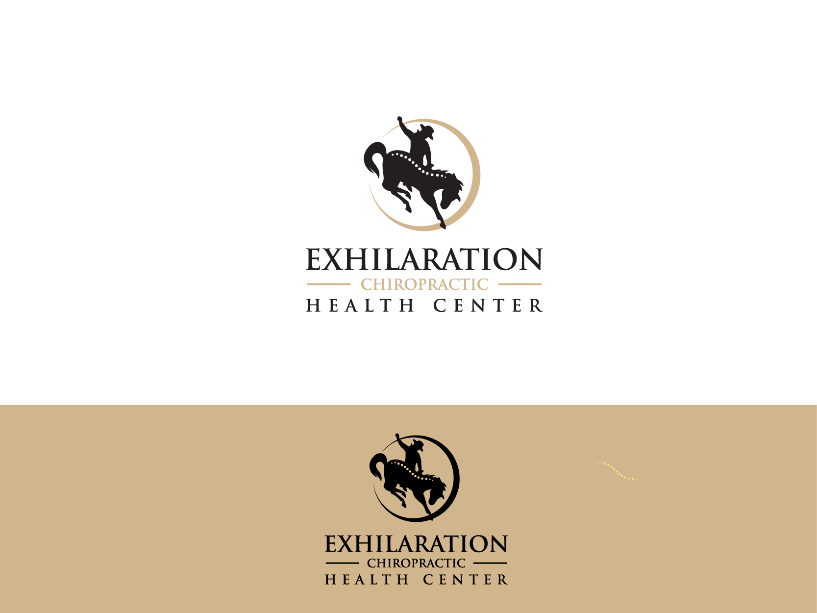 Create a capturing new age health logo for Exhilaration Health Center