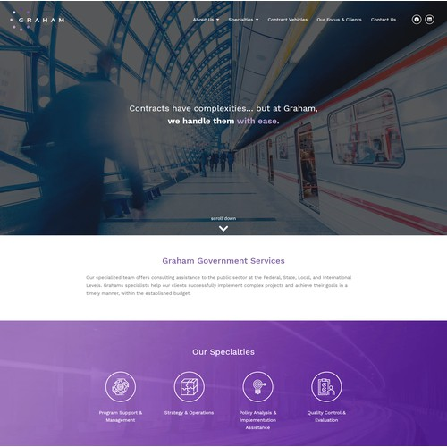 Corporate Style Website For Staffing Company