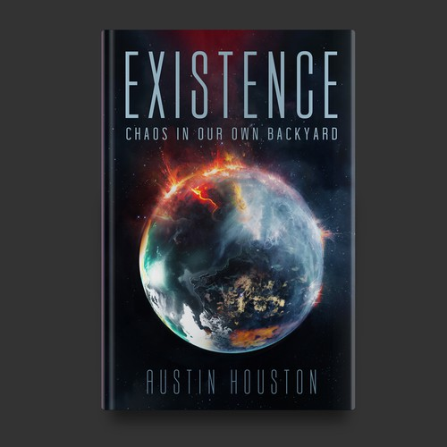 Existence Book Cover Design concept