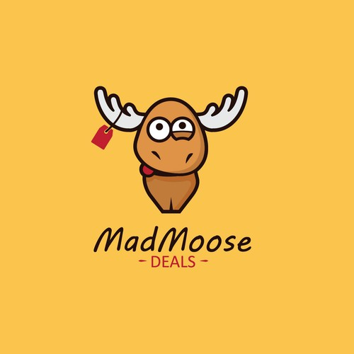 Fun moose character for Ebay shop