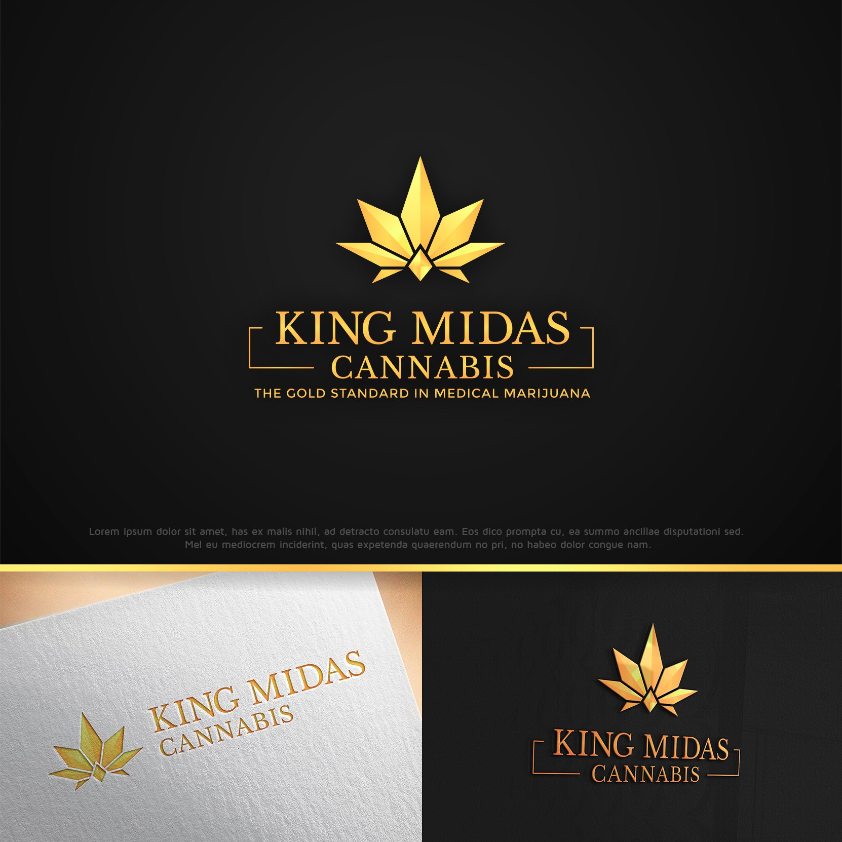 Create an industry leading logo for King Midas Cannabis