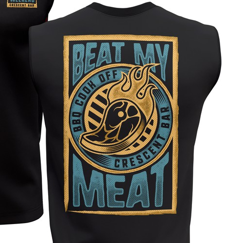 Beat my meat - T-shirt design