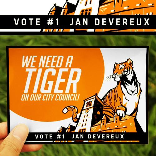 Postcard Design for Jan Devereux