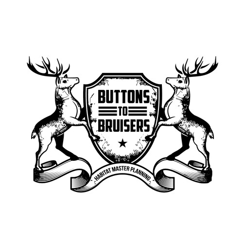 Create a logo about whitetail deer for habitat management consultant.