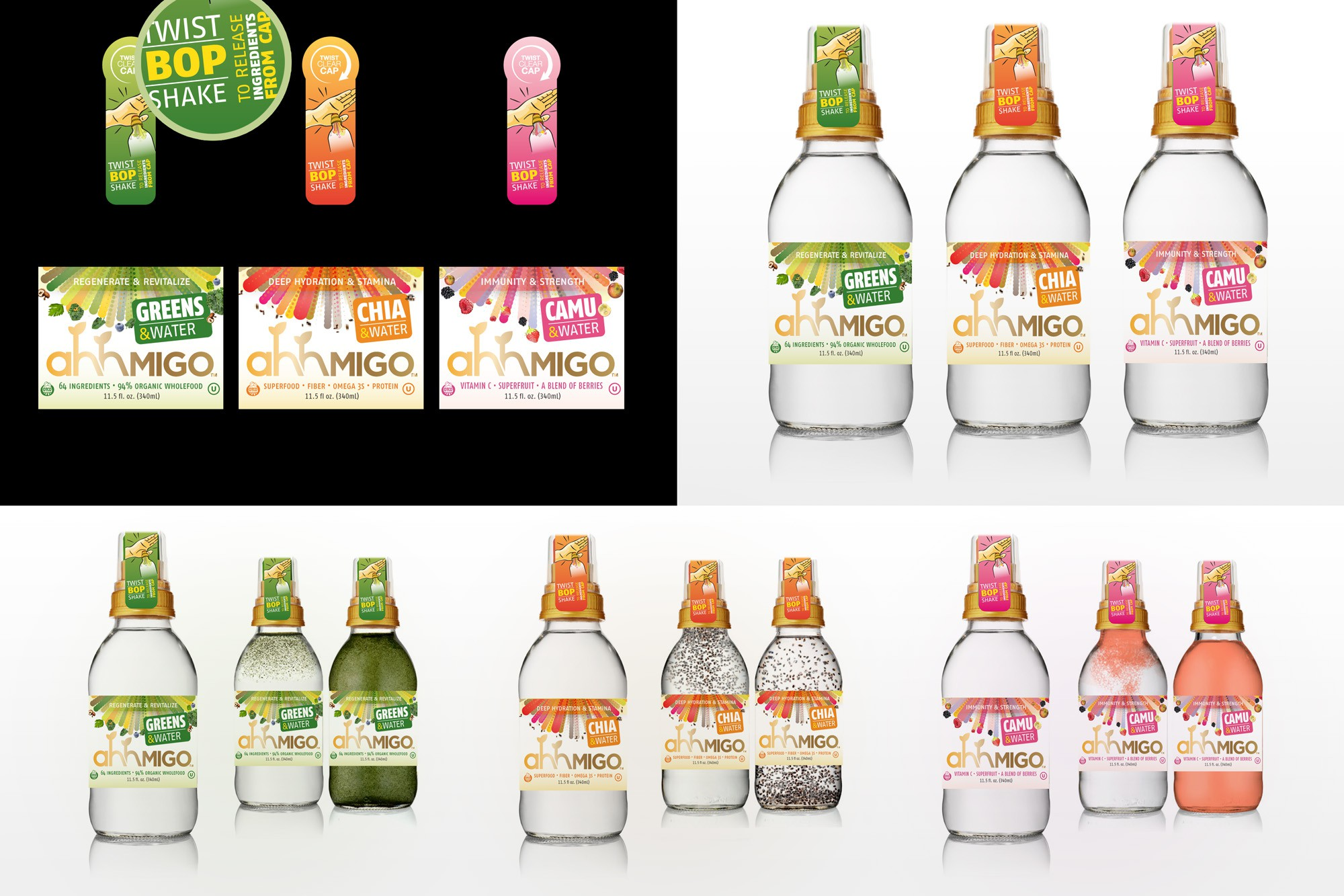 NEW Package Label wanted for Ahhmigo ORGANIC RAW DRINKS