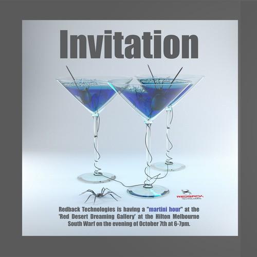 Martini party invitation
