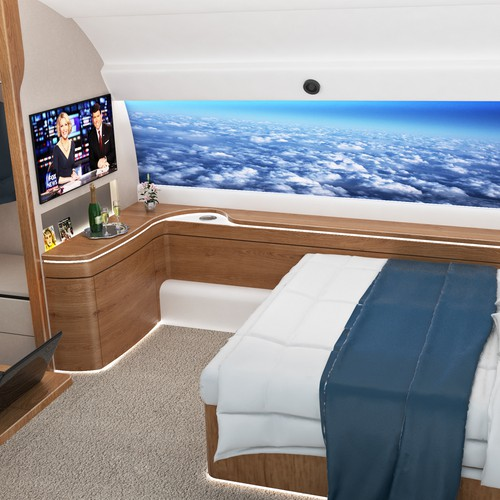 Private jet bedroom design
