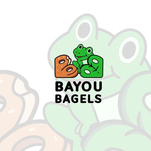 illustrative logo for bagels shops