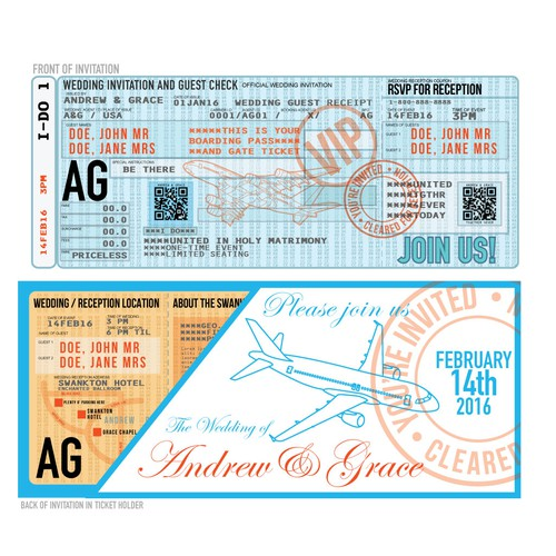 Airline Ticket Invitation