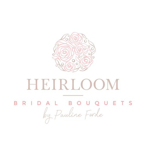Elegant bridal bouquets logo