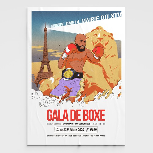 Poster for Boxing Event in Paris