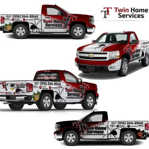 Vehicle wrap design for Pest Control company