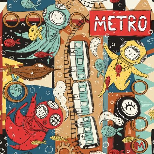 """Pattern illustration """"Next Stop Station"""""""