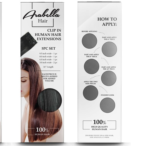 Hair Extensions Package design