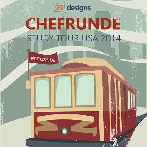 """Design a retro """"tour"""" poster for a special event at 99designs!"""