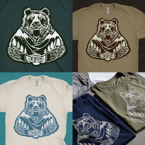 T-shirt Grizzly-Bear Illustration